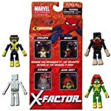 Marvel Minimates Exclusive 4Pack XFactor Cyclops, Jean Grey, Iceman & Beast by Diamond Select