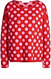Oui Damen Pullover Rot rot Gr. 38, rote Rose