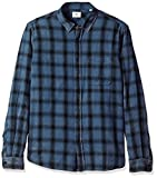 AG Adriano Goldschmied Men's Colton Long Sleeve Washed Plaid Button Down, Years Pacific Coast/Black, XXL