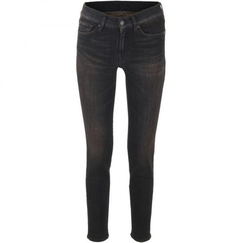 7 for all mankind Black Brown Skinny Jeans Gwenevere