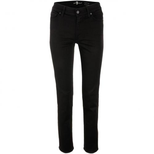 7 for all mankind Black Mid Rise Jeans Roxanne