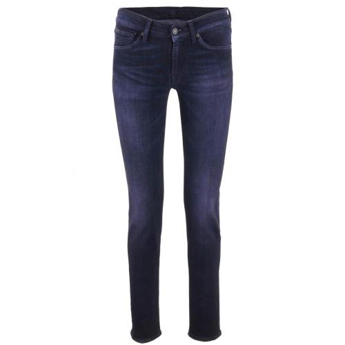 7 for all mankind Black Purple Skinny Jeans Gwenevere