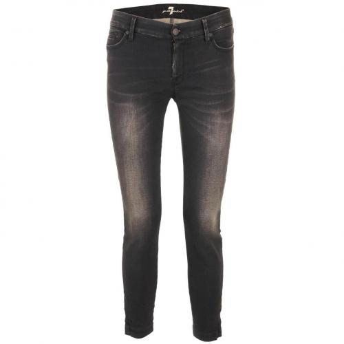 7 for all mankind Black Tailored Cropped Skinny