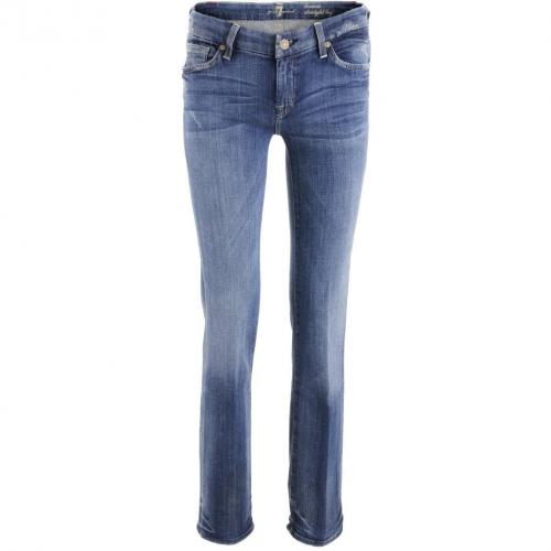 7 for all mankind Blue Straight Leg Jeans Kimmie