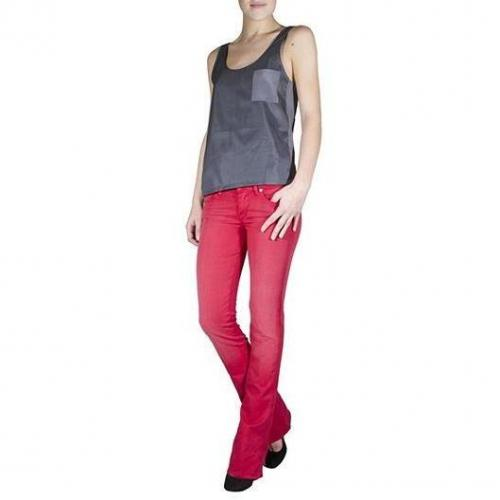 7 For All Mankind - Boot Cut Modell Kaylie Sunbleached Farbe Rot