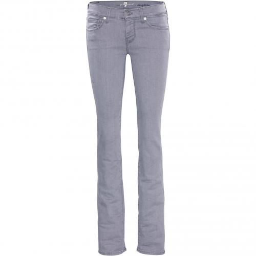 7 for all mankind Damen Jeans Straight Leg in Toronto Grey