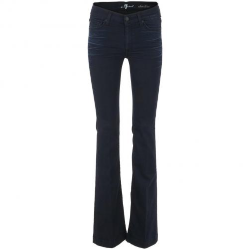 7 for all mankind Dark Skinny Flare Jeans Charlize