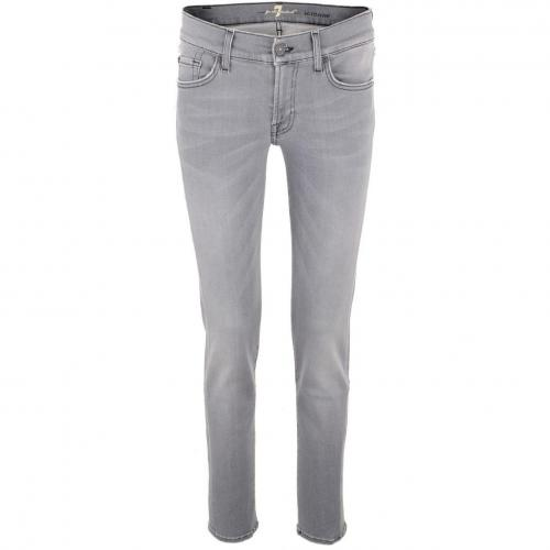 7 for all mankind Grey Mid Rise Jeans Roxanne