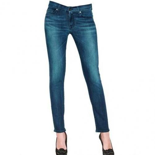 7 For All Mankind - Gwenevere Washed Denim Stretch Jeans