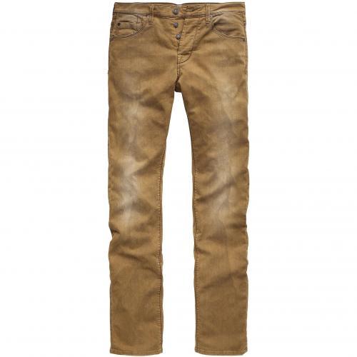 7 for all mankind Herren Jeans Colen Black Weft Bull Braun
