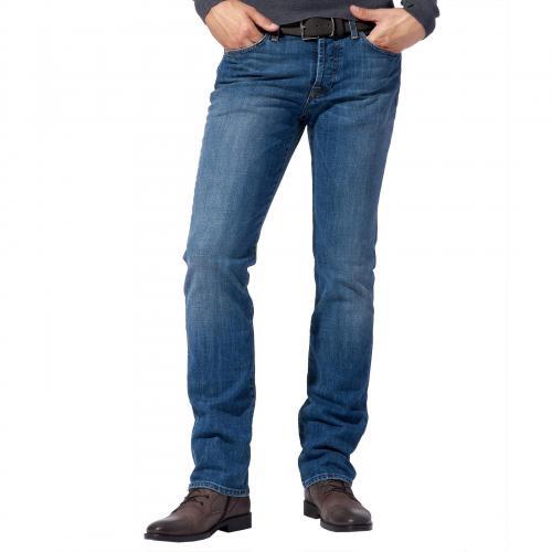 7 for all mankind Herren Jeans Standard Blue Washed Denim