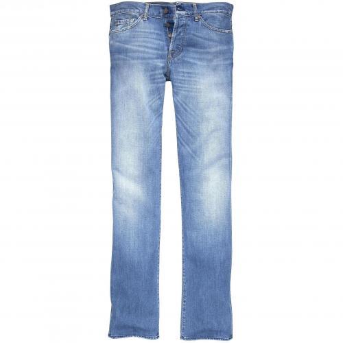 7 for all mankind Herren Jeans Standard Hellblau