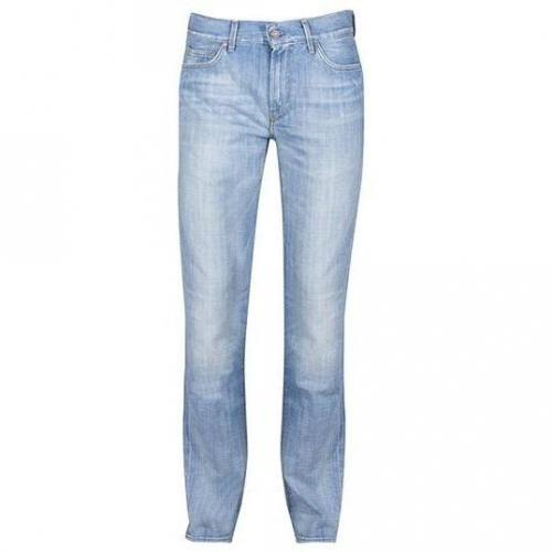 7 For All Mankind - Hüftjeans Slimmy Swain Bay Helle Waschung