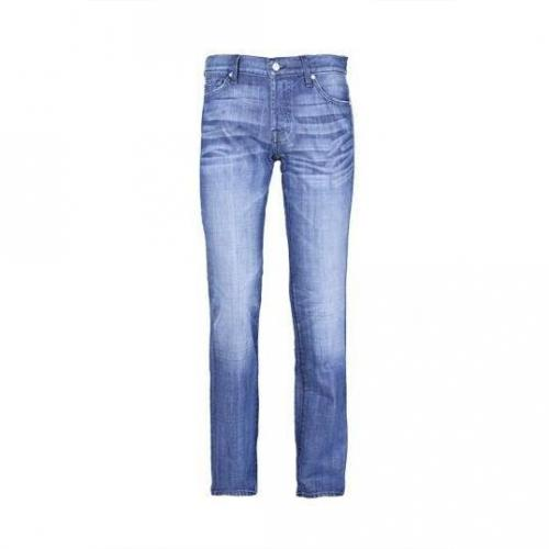7 For All Mankind - Hüftjeans Standard Indigo Blue Blaue Waschung