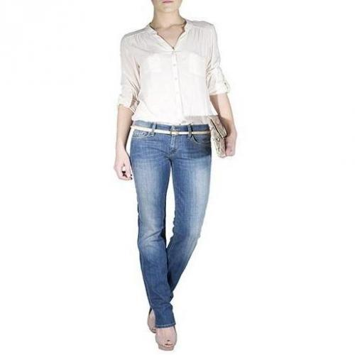 7 For All Mankind - Hüftjeans Modell Straight Leg Toronto Light Farbe Blau
