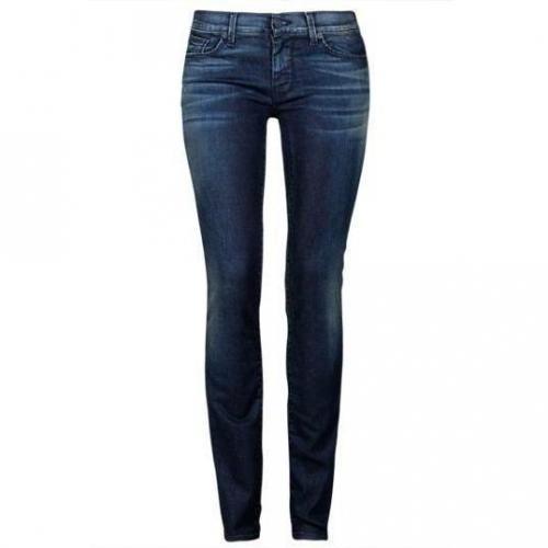7 For All Mankind - Hüftjeans Modell Straight Leg WF Farbe Dunkelblau