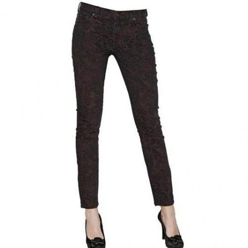 7 For All Mankind - Jacquard Stretch Denim Skinny Jeans
