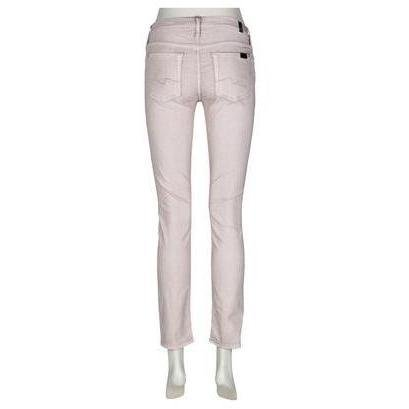 7 For All Mankind Jeans Skinny Cremefarben