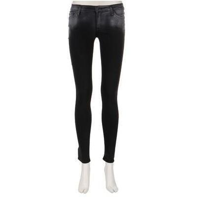 7 For All Mankind Jeans Skinny Schwarz