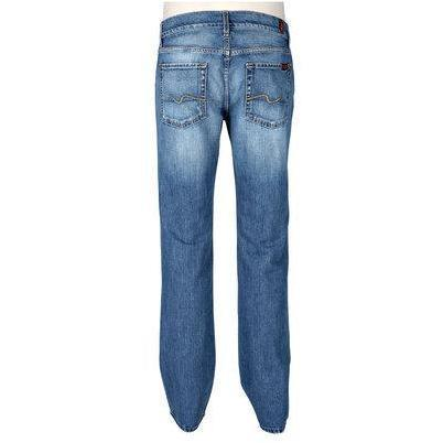 7 For All Mankind Jeans Standard Hellblau Washed
