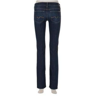 7 For All Mankind Jeans Straight Leg Dunkelblau