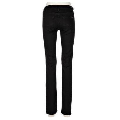 7 For All Mankind Jeans Straight Leg Schwarz