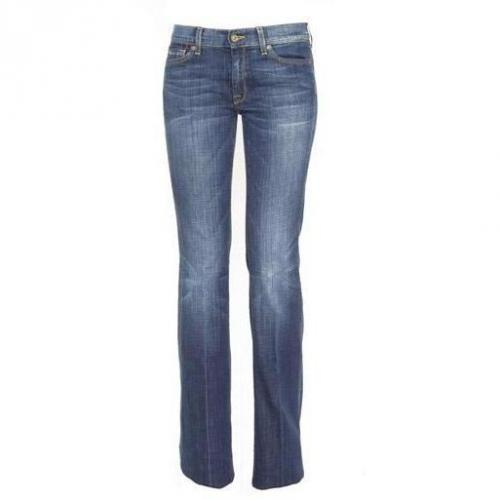 7 For All Mankind - Schlaghose Modell Charlize FRRI Farbe Blaue Waschung