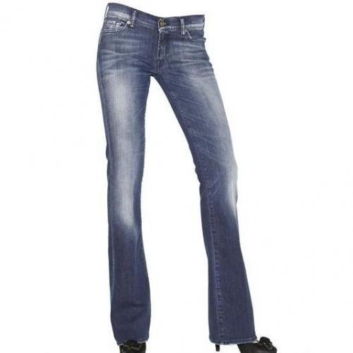 7 For All Mankind - Skinny Boot Cut Stretch Denim Jeans