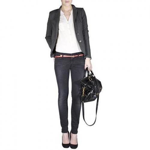 7 For All Mankind - Skinny Modell Gwenevere Turkish Rose Farbe Schwarz