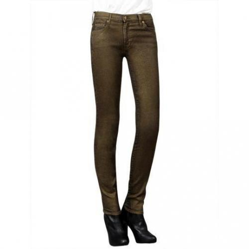 7 For All Mankind - Skinny Modell the Skinny MK Farbe Gold
