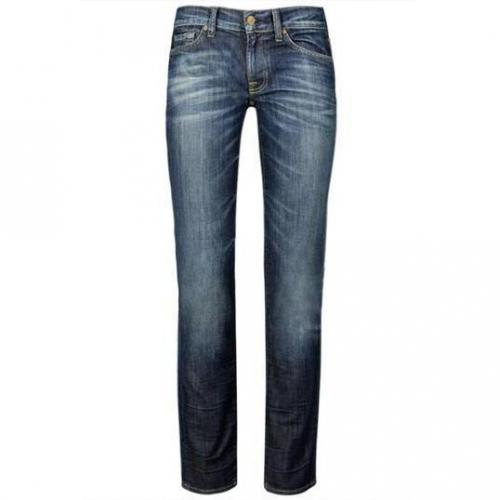 7 For All Mankind - Slim Modell Roxanne AY Farbe Blaue Waschung