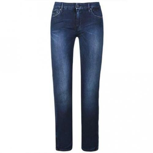 7 For All Mankind - Slim Modell Tail Cro Skin Sixfours Farbe Blaue Waschung