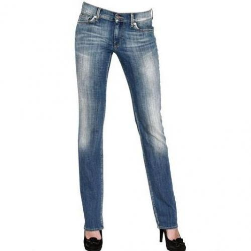 7 For All Mankind - Straight Leg Stretch Denim Jeans