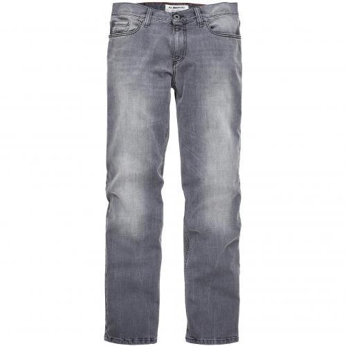 Alberto Herren Jeans Pipe Grau