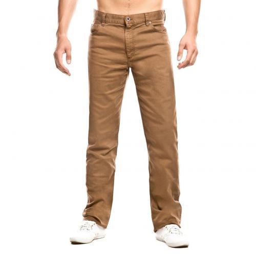 Alberto Stone Gerade Jeans Straight Fit Braun Überlänge 40