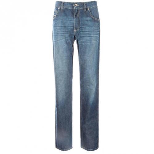 Alberto Stone - Light Flat Modern Fit Jeans Straight Fit Dark Used