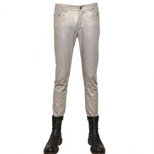 Ann Demeulemeester - 17.5Cm Stretch Glitzer Denim Jeans