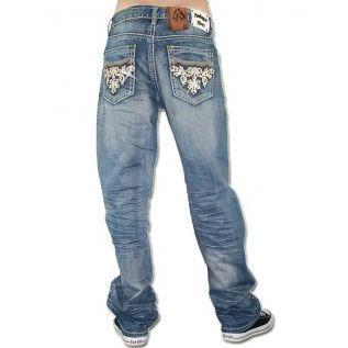 Antique Rivet Herren Jeans Austin