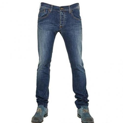 Armani Jeans - 18,5Cm Low Waist Stretch Slim Fit Jeans