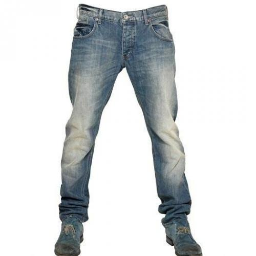 Armani Jeans - 18,5Cm Low Waist Stretch Slim Fit Jeans Washed