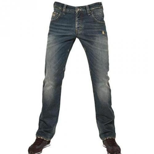 Armani Jeans - 19,5Cm Low Waist Denim Slim Leg Jeans