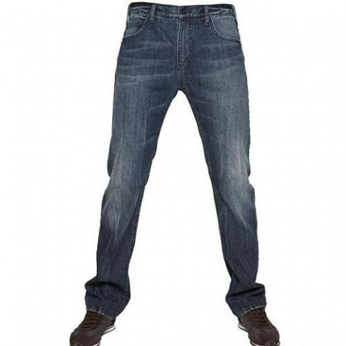 Armani Jeans - 19,5Cm Regular Washed Denim Jeans