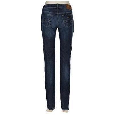 Armani Jeans Blau Washed Straight Leg