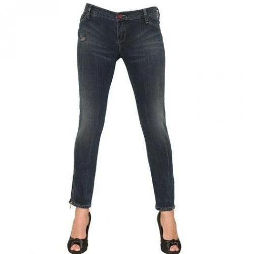 Armani Jeans - Stretch Denim Gekürzte Jeans