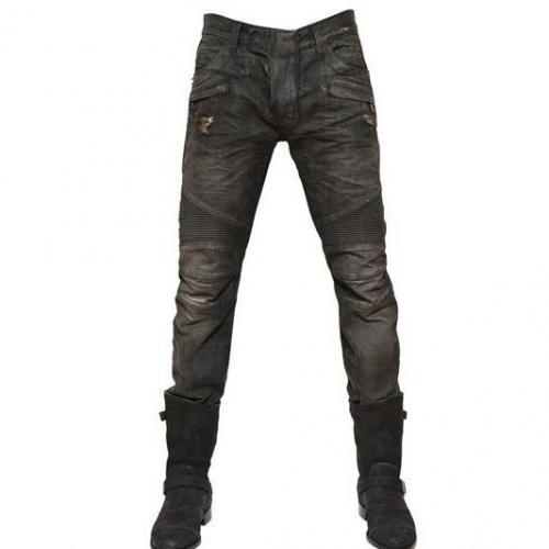 Balmain - 18Cm Destroyed Pintuck Heavy Denim Jeans