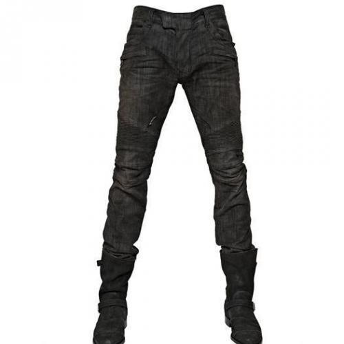 Balmain - 18Cm Stretch Pintuck Enge Jeans