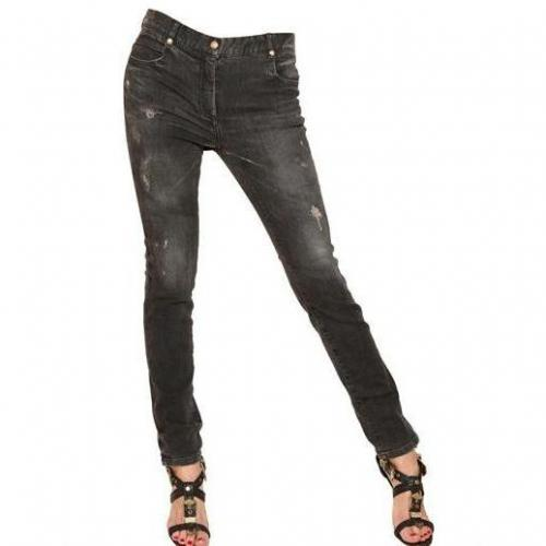 Balmain - Destroyed Skinny Stretch Denim Jeans