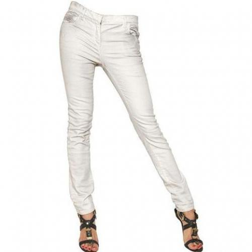 Balmain - Washed Skinny Stretch Denim Jeans