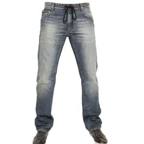 Bikkembergs - Kordelzug Denim Jeans