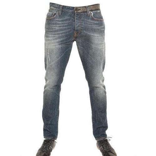 Bikkembergs - Sichtbare Gürtel Denim Jeans